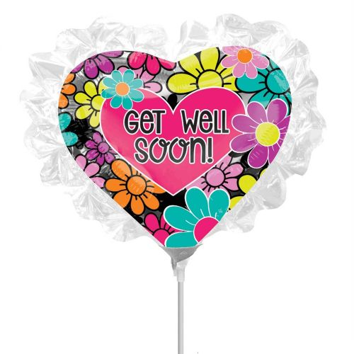 Floral Ruffle Get Well Soon Foil Mini Shape Flat